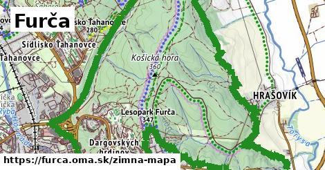 ikona Furča: 16km trás zimna-mapa  furca