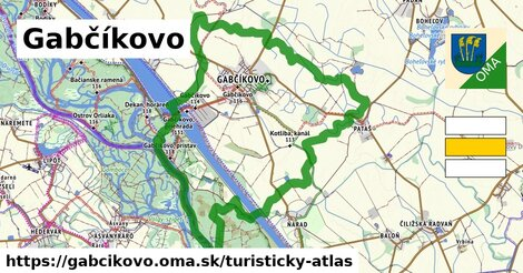 ikona Gabčíkovo: 14,1km trás turisticky-atlas  gabcikovo