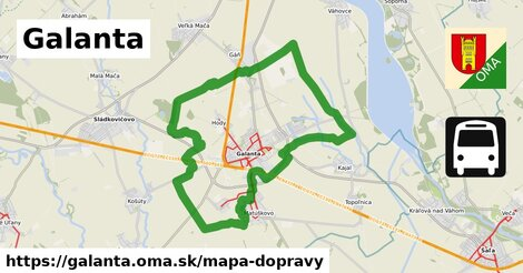 ikona Galanta: 17km trás mapa-dopravy  galanta