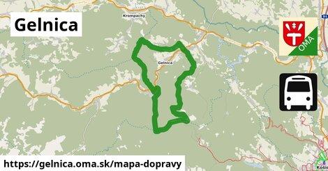 ikona Gelnica: 18km trás mapa-dopravy  gelnica