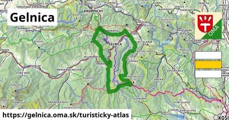 ikona Gelnica: 90km trás turisticky-atlas  gelnica