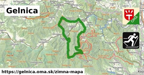 ikona Gelnica: 12,6km trás zimna-mapa  gelnica