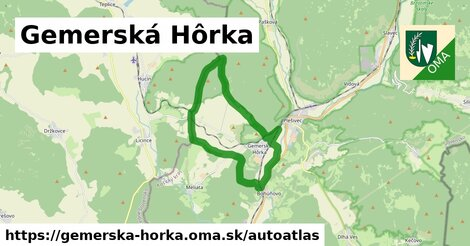 ikona Mapa autoatlas  gemerska-horka