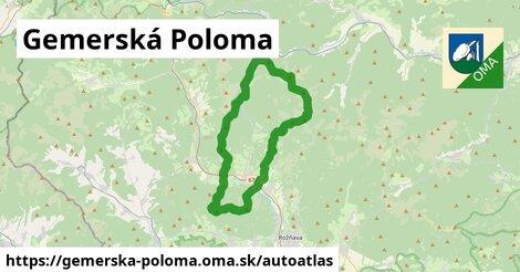 ikona Mapa autoatlas  gemerska-poloma