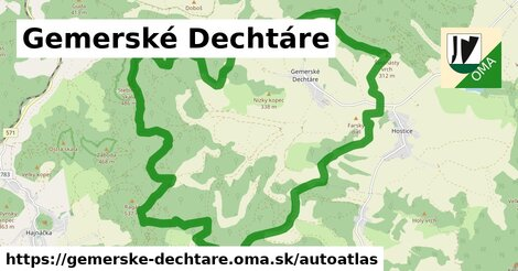 ikona Mapa autoatlas  gemerske-dechtare