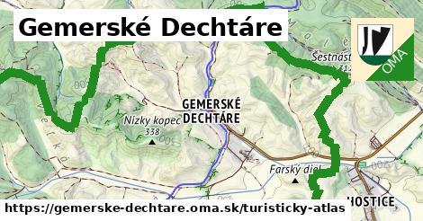 ikona Gemerské Dechtáre: 10,1km trás turisticky-atlas  gemerske-dechtare