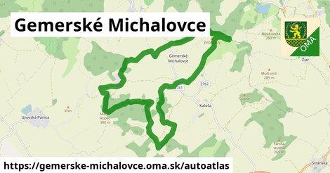 ikona Mapa autoatlas  gemerske-michalovce