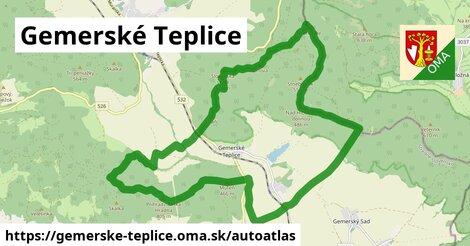 ikona Mapa autoatlas  gemerske-teplice