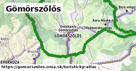 ikona Turistická mapa turisticky-atlas  gomorszolos