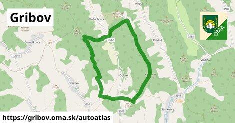 ikona Mapa autoatlas  gribov