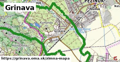 ikona Grinava: 1,57km trás zimna-mapa  grinava