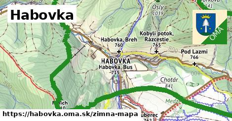 ikona Habovka: 5,5km trás zimna-mapa  habovka
