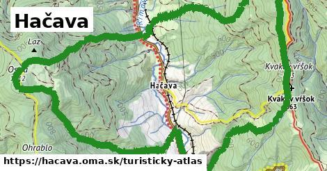 ikona Hačava: 3,6km trás turisticky-atlas  hacava