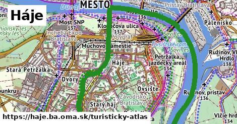 ikona Háje: 4,0km trás turisticky-atlas v haje.ba