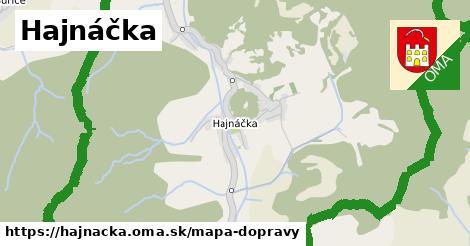 ikona Hajnáčka: 3,4km trás mapa-dopravy  hajnacka