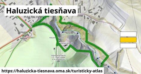 ikona Turistická mapa turisticky-atlas  haluzicka-tiesnava