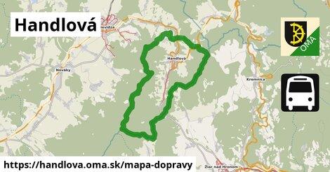 ikona Handlová: 7,8km trás mapa-dopravy  handlova