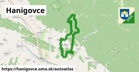 ikona Mapa autoatlas  hanigovce