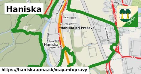 ikona Mapa dopravy mapa-dopravy v haniska