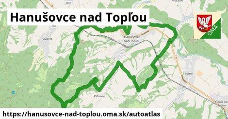 ikona Mapa autoatlas  hanusovce-nad-toplou