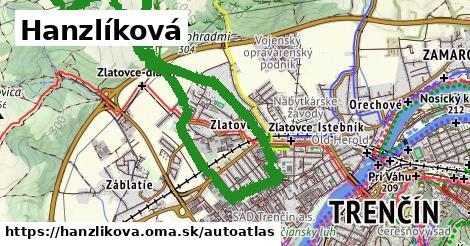ikona Mapa autoatlas  hanzlikova