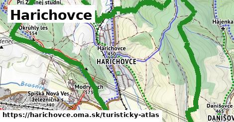 ikona Turistická mapa turisticky-atlas  harichovce