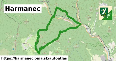 ikona Mapa autoatlas  harmanec