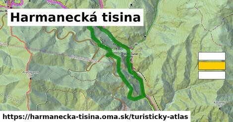 ikona Turistická mapa turisticky-atlas  harmanecka-tisina