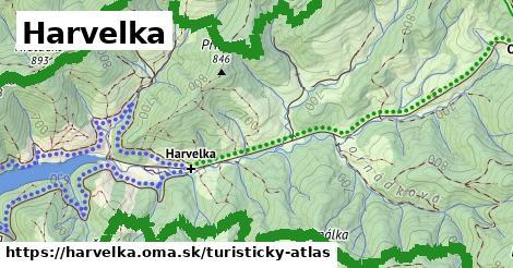 ikona Harvelka: 3,3km trás turisticky-atlas  harvelka