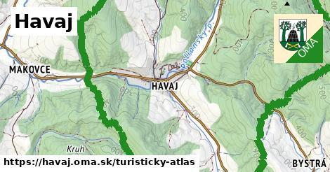 ikona Havaj: 0m trás turisticky-atlas v havaj