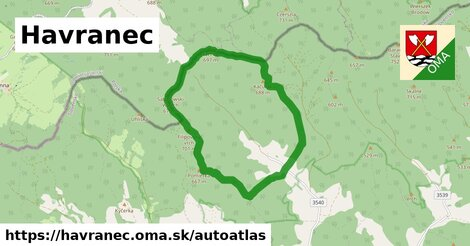 ikona Mapa autoatlas  havranec