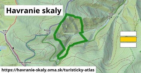 ikona Turistická mapa turisticky-atlas  havranie-skaly