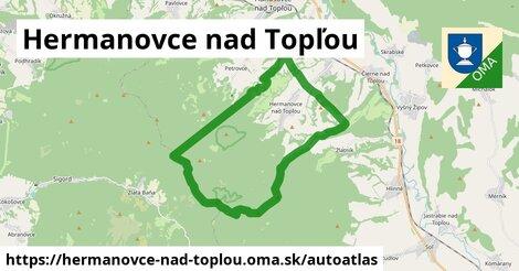 ikona Mapa autoatlas  hermanovce-nad-toplou