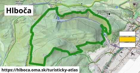 ikona Turistická mapa turisticky-atlas  hlboca