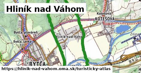 ikona Hliník nad Váhom: 0m trás turisticky-atlas v hlinik-nad-vahom