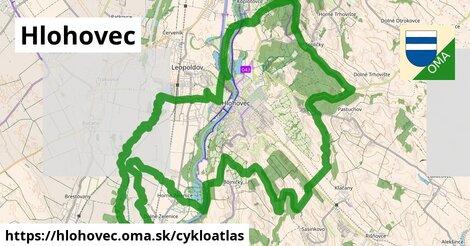 ikona Hlohovec: 4,3km trás cykloatlas  hlohovec