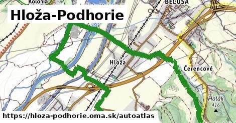 ikona Mapa autoatlas  hloza-podhorie