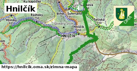 ikona Hnilčík: 25km trás zimna-mapa  hnilcik