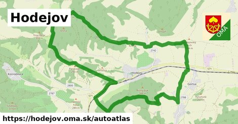 ikona Mapa autoatlas  hodejov