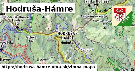 ikona Hodruša-Hámre: 682m trás zimna-mapa  hodrusa-hamre