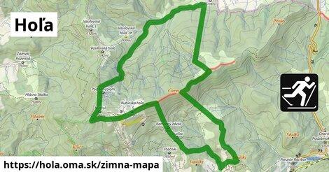ikona Hoľa: 6,0km trás zimna-mapa  hola