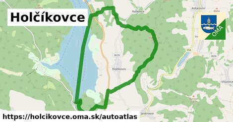 ikona Mapa autoatlas  holcikovce