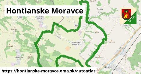 ikona Mapa autoatlas  hontianske-moravce