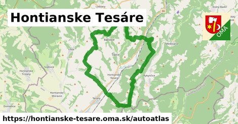 ikona Mapa autoatlas  hontianske-tesare