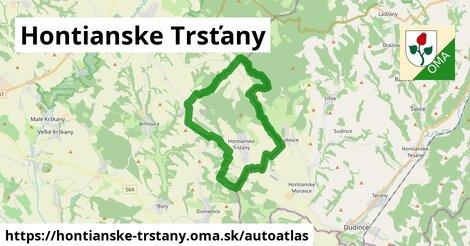 ikona Mapa autoatlas  hontianske-trstany
