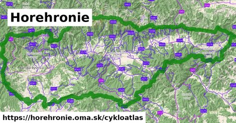 ikona Horehronie: 1288km trás cykloatlas  horehronie
