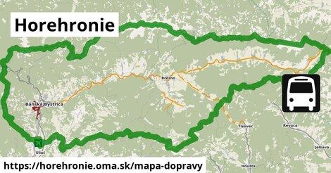 ikona Horehronie: 490km trás mapa-dopravy  horehronie