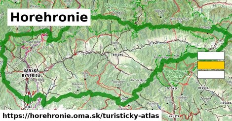 ikona Horehronie: 1451km trás turisticky-atlas  horehronie