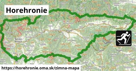 ikona Horehronie: 242km trás zimna-mapa  horehronie