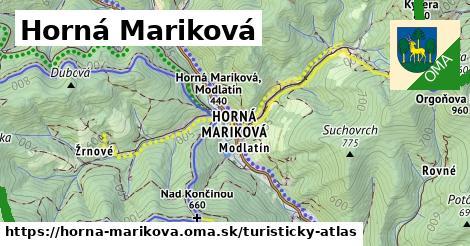 ikona Horná Mariková: 34km trás turisticky-atlas  horna-marikova